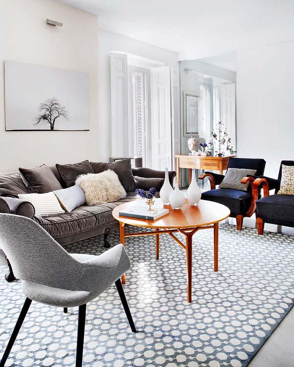 Apartamento em Madri. Estilo nórdico charmoso e acolhedor