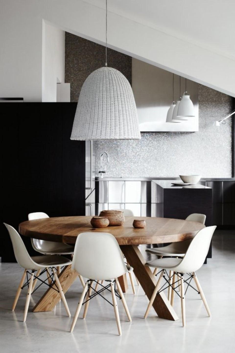 Iluminando Sua Sala De Jantar It Ideias Conte Do Inovador E  -> Lustres Para Sala De Jantar Com Mesa Quadrada