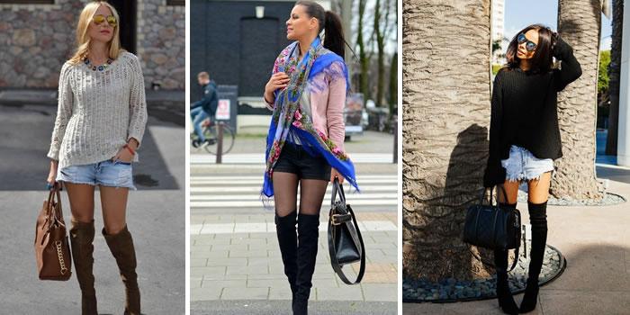 3fd0b1f102076 Você gosta de shorts? Os jeans com malha dão um ar super descolado e  informal!