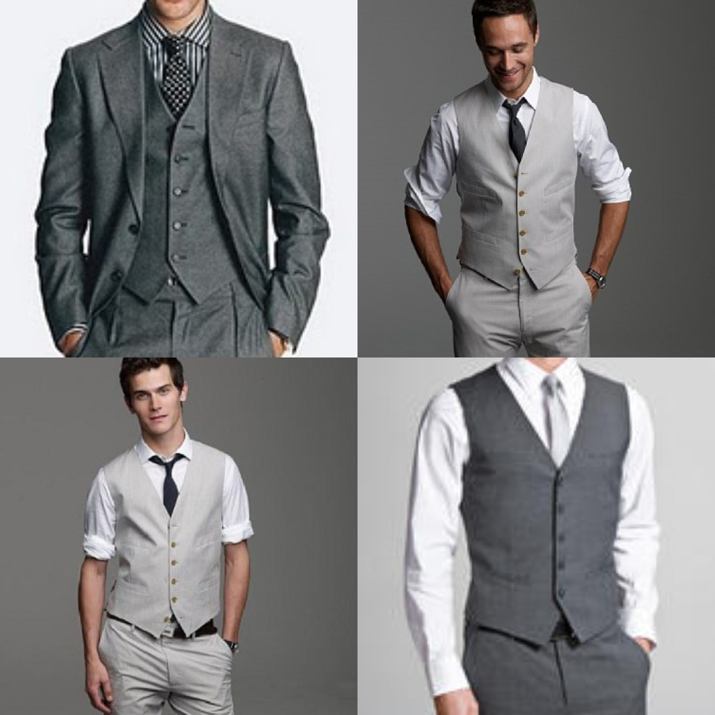 grey suit collage