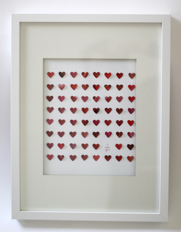 Framed hearts 1