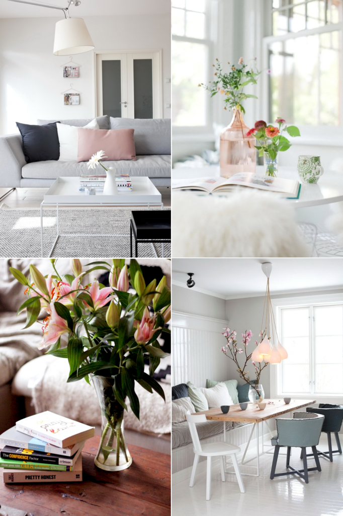 jeans and roses blog interior home decor spring white pastel fresh flowers